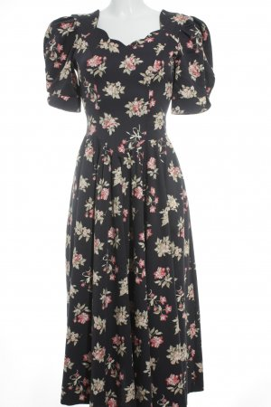 Laura Ashley A-Linien Kleid Blumenmuster 80ies-Stil
