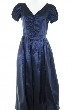 Laura Ashley Abendkleid dunkelblau Glanz-Optik