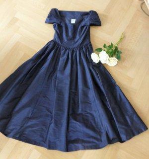 Laura Ashley-Abendkleid nachtblau
