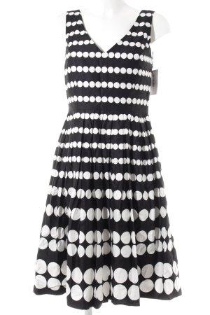 Laura Ashley Cocktailkleid schwarz-weiß Punktemuster klassischer Stil