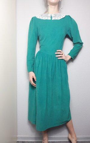 Laura Ashley Kleid, True Vintage Midikleid aus Kord
