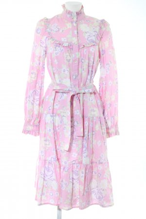 Laura Ashley Langarmkleid pink Allover-Druck Elegant
