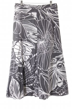 Laura Ashley Maxi gonna grigio-bianco motivo floreale stile spiaggia