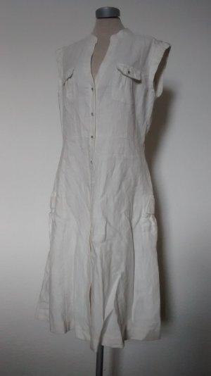 Laura AshleyLeinenkleid Kleid 100% Leinen weiß Gr. UK 12 EUR 38 S M Hemdkleid neu!