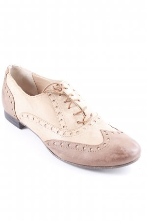 Laura Bellariva Wingtip Shoes beige-light brown '20s style
