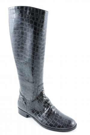 Laura Bellariva Jackboots black-grey animal pattern animal print
