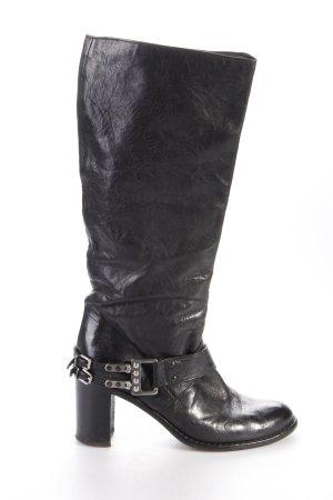 Laura Bellariva Stiefel schwarz mit Zierschnalle