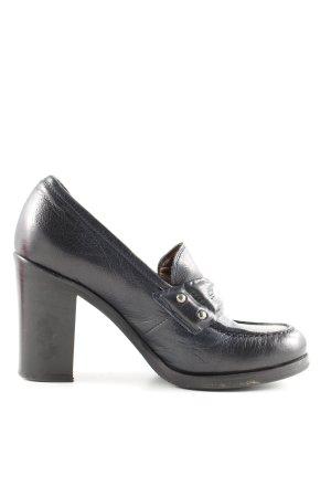 Laura Bellariva Loafers zwart zakelijke stijl