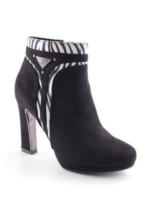 Laura biagiotti Absatz Stiefel schwarz-weiß Animalmuster extravaganter Stil