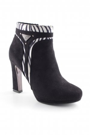 Laura biagiotti Heel Boots black-white animal pattern extravagant style