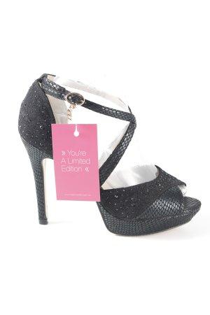 Laura biagiotti High Heel Sandal black-gold-colored animal pattern