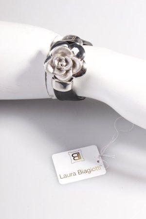 Laura Biagiotti Lederarmband Silber Rose