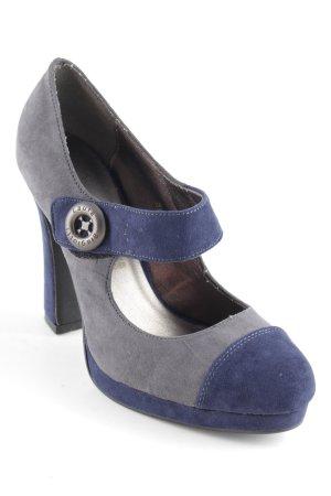 Laura biagiotti Escarpin à plateforme gris vert-bleu foncé style décontracté