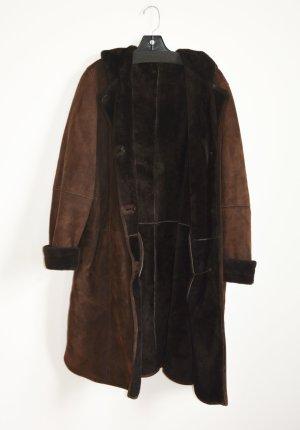 Hooded Coat brown fur