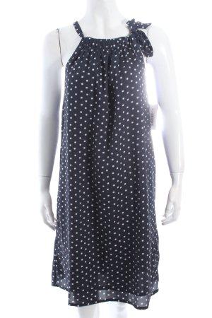 Laura Clement A-Linien Kleid dunkelblau-weiß Punktemuster Eleganz-Look