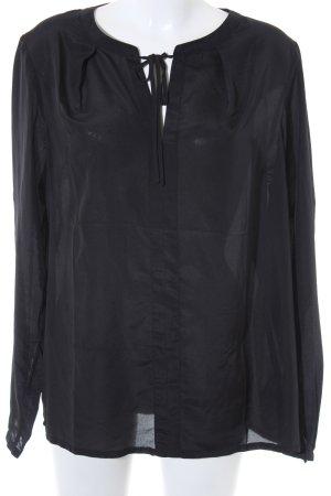 Laura Clement Transparenz-Bluse schwarz Casual-Look