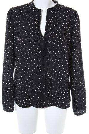 Laura Clement Transparenz-Bluse schwarz-weiß Farbtupfermuster Casual-Look