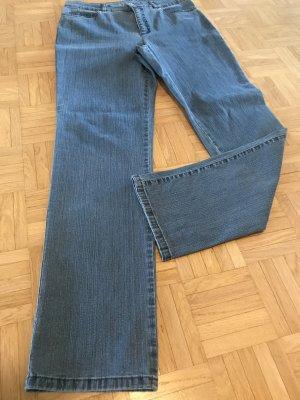 Laura di Sarpi Hose Jeanshose Jeans Strech NEUWERTIG Strass auf den Taschen Gr. M 38 hoher Bund high waist