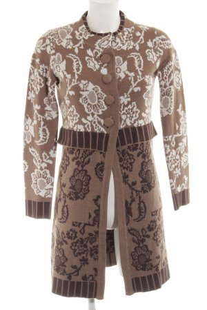 Laura di Sarpi Knitted Coat brown allover print elegant