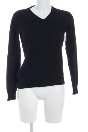 Laura di Sarpi V-Ausschnitt-Pullover schwarz Casual-Look