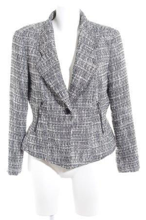 Laura di Sarpi Woll-Blazer schwarz-weiß Webmuster Business-Look