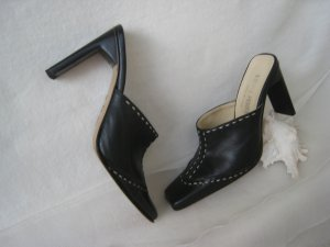 Heel Pantolettes black-oatmeal leather