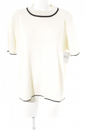 Laura Kent Short Sleeve Sweater cream-black casual look