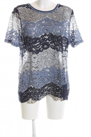 Laura Kent Lace Blouse flower pattern casual look