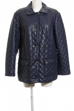 Laura Kent Quilted Jacket dark blue quilting pattern casual look
