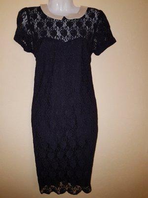 Laura Lace Dress von Vero Moda Spitzenkleid Minikleid mit Kragen white/black/latte NEU