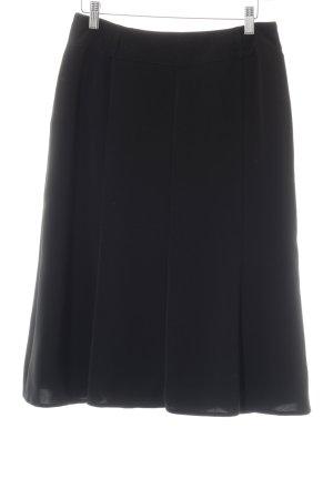Laura Lebek Falda de talle alto negro estilo «business»