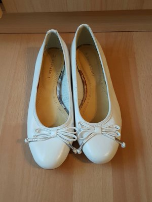 laura lenti ballerinas in weiss