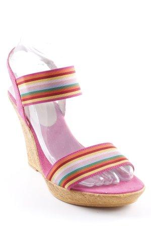 Laura Milani Wedges Sandaletten Streifenmuster Casual-Look