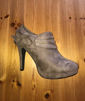 Laura Mode Ankle Boots mit Schleife, camel