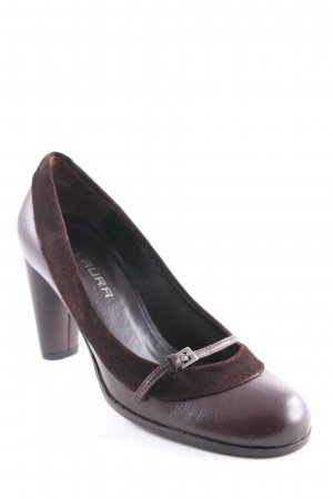 Laura Riemchenpumps dunkelbraun Casual-Look