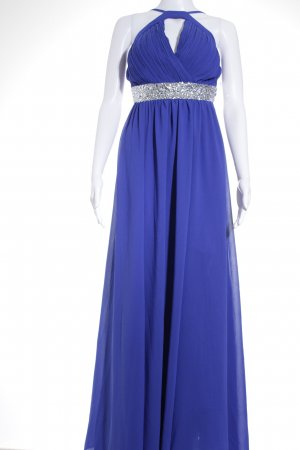 Laura Scott Abendkleid blau-silberfarben Elegant