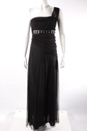 Laura Scott Abendkleid schwarz mit Pailletten