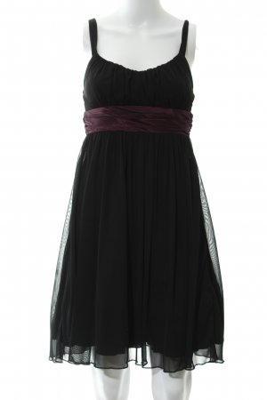 Laura Scott Abendkleid schwarz-purpur Elegant