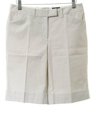 Laura Scott Pantalon de costume crème-gris clair motif rayé style d'affaires