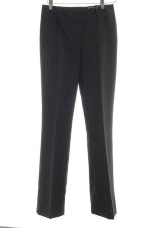 Laura Scott Pantalon de costume gris foncé-gris rayure fine style d'affaires