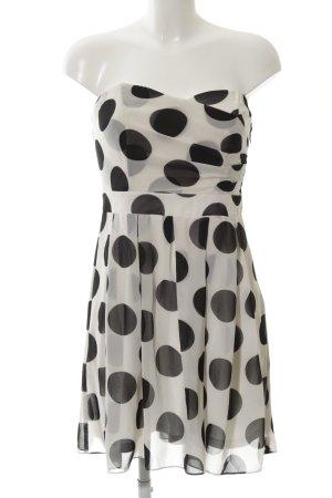 Laura Scott Abito a fascia bianco sporco-nero stampa integrale elegante