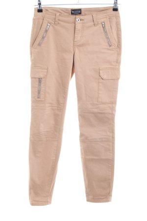 Laura Scott Biker jeans nude casual uitstraling