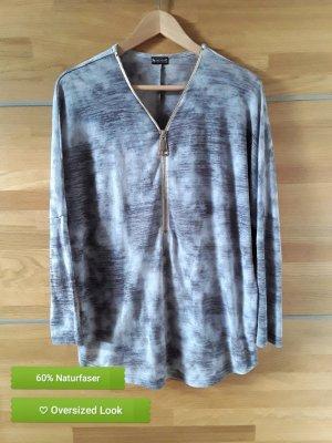 LAURA SCOTT Bluse Shirt Oberteil 36/38 40/42 M L oversized Reißverschluß