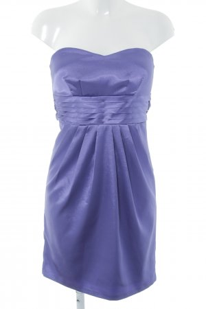 Laura Scott Vestido bustier violeta azulado look efecto mojado