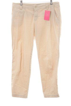 Laura Scott Pantalon chinos beige clair-crème style simple