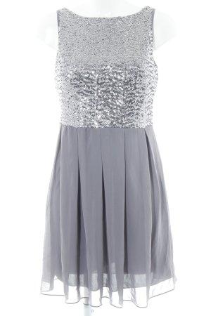 Laura Scott Cocktailkleid grau-silberfarben Elegant
