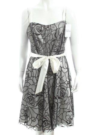 Laura Scott Cocktailkleid schwarz-weiß florales Muster Party-Look