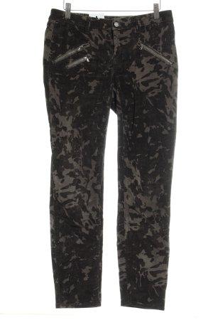 Laura Scott Corduroy Trousers light grey-dark grey camouflage pattern