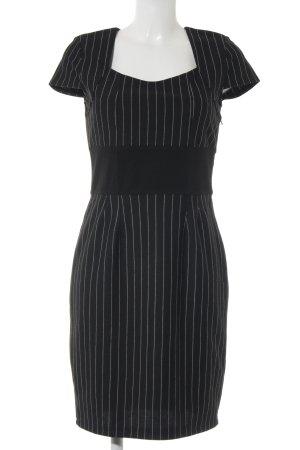 Laura Scott Etuikleid schwarz-weiß Streifenmuster Elegant