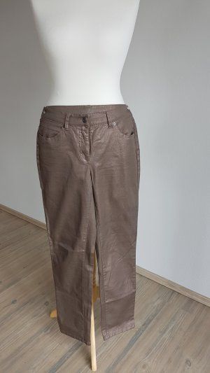 Laura Scott Drainpipe Trousers gold-colored